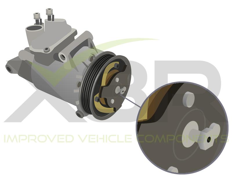 broken shear plate delphi air con compressor